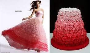 wedding cakes inspired by the bridal evening dress cake wedding
