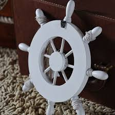ornamental home nautical wall marine decor wood pirate ship helm
