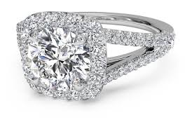 cushion halo engagement rings cut cushion halo v band engagement ring in