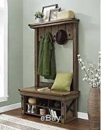 hall tree with storage bench shoe for entryway coat rack foyer