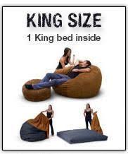 king beanbag sleeper u2013 snugglers beanbag beds