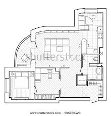Floor Plan Of A House by Set Furniture Top View Apartments Plan Stock Vector 662336038