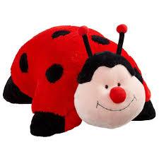 amazon com pillow pets jumboz ladybug pillow ms ladybug large