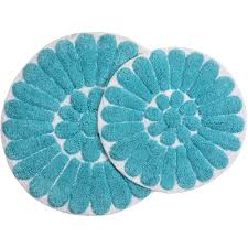 bursting flower 2 piece bath rug set walmart com