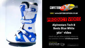 motocross boots alpinestars alpinestars tech 8 white blue boots youtube