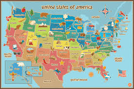 Picture Of A Blank Map Of The United States by Amazon Com Wall Pops Wpe0623 Kids Usa Dry Erase Map Decal Wall