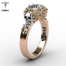zircon rings images Evbea elegant gold skull zircon ring women punk wedding jewelry jpg