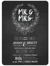 chalkboard wedding invitations mr and mrs chalkboard wedding invitation themrsinglink