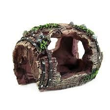 aliexpress buy aquarium barrel resin hide cave reptile