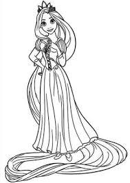 8 images rapunzel crown coloring pages disney