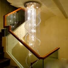hall and stairs lighting led modern double staircase chandelier crystal l staircase light