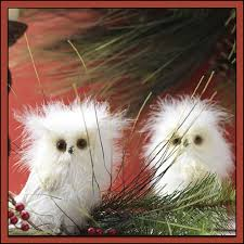 adorable white owl decorations