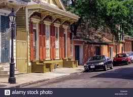 new orleans louisiana french quarter double shotgun style house