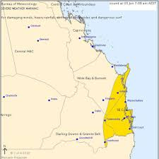 Map Of Queensland Queensland Wild Weather Bom Warns Flash Flooding Powerful Wind