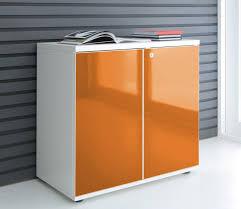armoire bureau armoire basse de bureau avec portes stratifiées de couleur mdd ar
