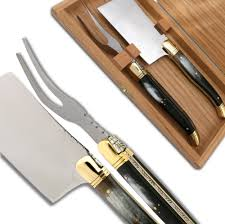 Laguiole Kitchen Knives by Laguiole Cheese Knife Server Set Laguiole Actiforge Knife