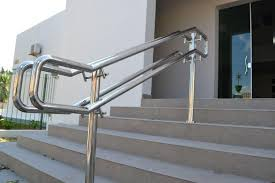 Steel Banister Rails Stainless Steel Handrail See Tips And 60 Models With Photos