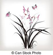 clipart of orchid and butterfly orchid butterfly bubbles and
