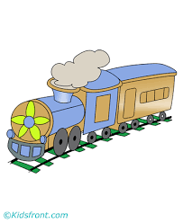 model train coloring pages kids color print