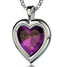 purple heart necklace images Want the best gift for wife buy a sweet necklace now at nano jewelry jpg