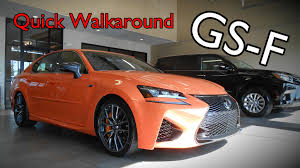 gsf lexus orange 2016 lexus gs f quick walkaround u0026 exhaust youtube