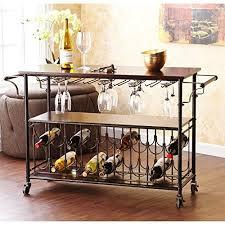 Kitchen Island Or Cart by Kitchen Island Bar Table Amazon Com