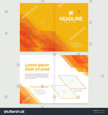 brochure cover inner pages design template stock vector 322673504