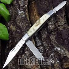 folding pocket knife elk ridge gentleman u0027s trapper double blade