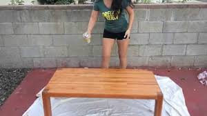 diy staining a coffee table youtube