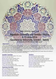 algebraic geometry and number theory 2014 galatasarayuniversity