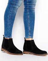 womens boots asos lyst asos activity suede chelsea boots in black