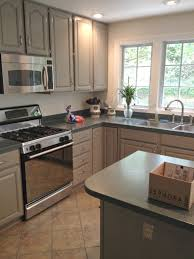 How To Seal Painted Kitchen Cabinets Kitchen Cabinet Makeover With Paint The Old Lucketts Store
