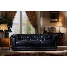 100 Percent Genuine Leather Sofa Nebraska Tufted Genuine Leather Chesterfield Sofa With Feather