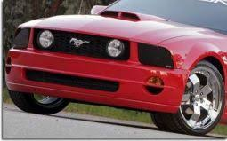 mustang headlight covers auto ventshade smoke headlight covers for 2005 2009 ford mustang