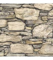 nuwallpaper brown hadrian stone wall peel and stick wallpaper