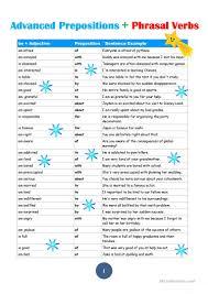 Verb Phrases Worksheets 24 Free Esl Prepositions Worksheets For Proficient C2 Level