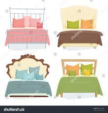 double beds pillows set blanket modern stock vector 472501882 double beds and pillows set with blanket in modern style cartoon vector illustration bedroom furniture