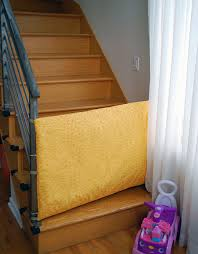 Gate For Top Of Stairs With Banister Diy Fabric Safety Gate For Baby And Toddlers Baby Safety Safety