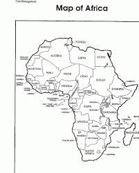 Africa Blank Map by Continent Coloring Pages Eldamian Net Picture Gallery Of The