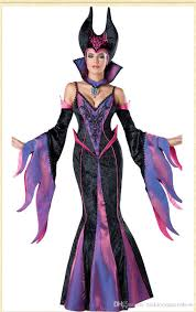 wholesale deluxe cosplay purple dress dark witch