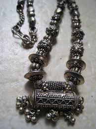 silver necklace from india images Vintage tribal silver amulet necklace from india high grade jpg