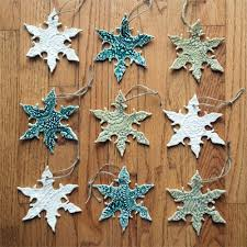 diy lace snowflake ornaments wit whistle
