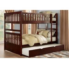 Full Bed With Trundle Rowe Dark Cherry Twin Twin Trundle Bed With Two Storage Drawers