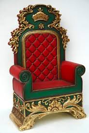 santa claus chair throne rental nicky the mrs