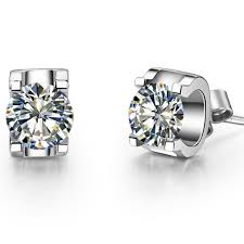 stud diamond earrings 0 5ct brillante sona synthetic diamonds women stud earrings