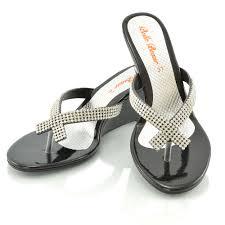 womens wedge heel flip flops sandals diamante sparkly ladies toe
