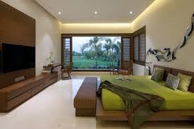spot chambre à coucher design interieur chambre coucher moderne literie vert anis accents