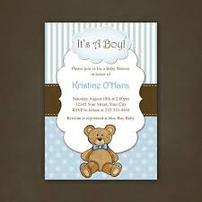 teddy baby shower teddy baby shower invitations cloveranddot