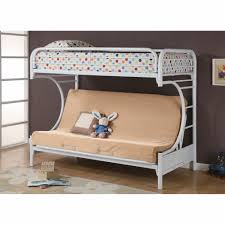 C Style Twin Over Full Futon Bunk Bed White - Twin over futon bunk bed with mattress