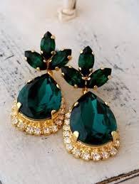 emerald earrings emerald earrings emerald bridal earrings by eldortinajewelry